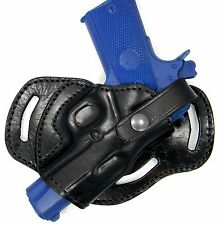 """Premium Leather 3-slot SMALL OF BACK (SOB) Holster for ROCK ISLAND 4"""" & 5"""" 1911"""