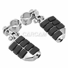 """Motorcycle Highway Footpegs Clamps 1-1/4"""" Foot Pegs For Harley Davidson Touring"""