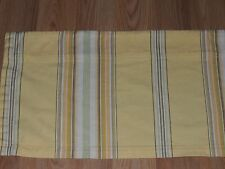 "POTTERY BARN STRIPE VALANCE YELLOW BROWN GREEN 44"" X 13"""