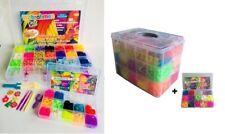 Super Angebot Loom Bänder XXL 12000 oder 4200 Kl.BOX Gratis bunte GummibänderSet