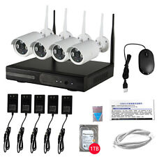 Wireless 4CH HD 720P NVR IP System Security Network CCTV Home WIFI IP Camera 1TB