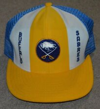 Vtg Buffalo Sabres AJD Designs Lucky Stripes Snapback Hat Deadstock Made in USA