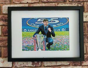 Glasgow Rangers Steven Gerrard 55 Champions Pop Art Tribute Football Picture