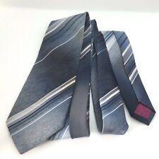 Cavalier Vintage Blue Striped Casual Shirt Tie