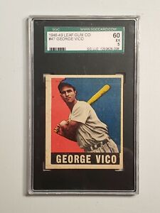 1948 LEAF GUM CO. #47 GEORGE VICO GRADED SGC 60  5 EX RC Detroit Tigers
