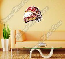 "Sportbike Motorcycle Helmet Biker Bike Wall Sticker Room Interior Decor 22""X22"""