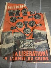 German Propaganda Poster Vichy France Ww2 Original 3 Reich