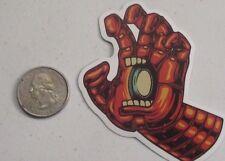 santa cruz sticker iron man screaming hand skate skateboard cell laptop bumper