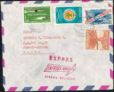 1712 Colombia To Haiti Special Delivery Air Mail Cover 1961 Barranquilla