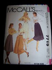 Vintage McCall's Misses Gathered or Pleated Skirt Pattern #7719 Uncut FF Size 10