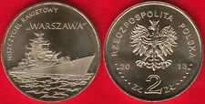 "Poland 2 zlote 2013 ""Warszawa Guided-missile Destroyer"" UNC"