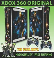 XBOX 360 OLD SHAPE IRON MAN GOLD SUIT STICKER SKIN & 2 PAD SKINS