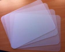 1 Set = 4 transparente Tischset Tischunterlage PP abwaschbar 42 x 32 cm Neu