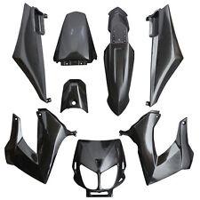Kit CARENAGE /Carrosserie 8 pices DERBI Noir 8 coques Senda XRace Xtrem DRD