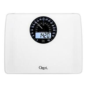 Ozeri Digital Bathroom Scale Electro-Mechanical Weight Dial 400 lb. Capacity