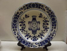 BLUE FLORA KERAMIEK DELFTS UNION DEDEMSVAART BICYCLE ADVERTISING WALL PLATE