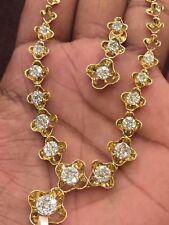 3.36 Cts Natural Diamonds Necklace Earrings Set In Hallmark 14Karat Yellow Gold