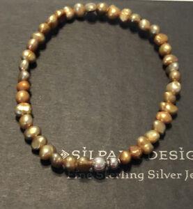 Silpada B1369 SINGLE (1) Lustrous Copper Freshwater Pearl ~FUN TO LAYER ~ MINT!