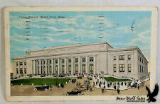 Litho PC Union Station Train Depot View of New Depot St. Paul MN 1924