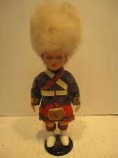 "Vintage 7.5"" Scots Guard In Kilt Doll Toy Figure"