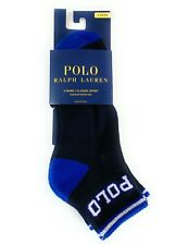 Polo Ralph Lauren Men 3 Pairs Classic Sport Ankle Navy NWT Spellout Socks 10-13