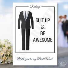 Will you be my Best man Usher Groomsman Invitation Invites Personalised card