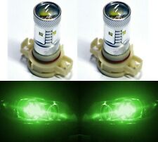 LED 30W PSX24W 2504 Green Two Bulbs Fog Light Replacement OE Show Use Lamp