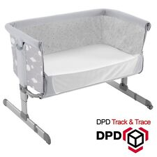 Chicco Next 2 Me Bedside Co-Sleep Baby Crib / Cot bed Silver Circles TOP SELLING