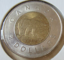 Set of 2012 TYPE 1 (RARE) & TYPE 2 Canada Toonie Two Dollar Coin UNC (RJ413,601