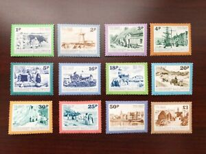 Guernsey 1982 Scott #J30-J41 Pictorial Postage Dues Mint NH
