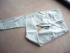 NEW  Next sz 8L long relaxed skinny jeans stone beige trousers jeans