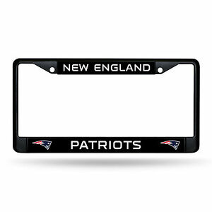 New England Patriots Authentic Metal BLACK License Plate Frame Auto Truck Car