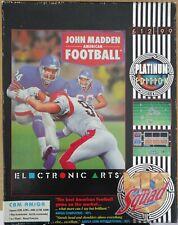COMMODORE AMIGA JOHN MADDEN AMERICAN FOOTBALL ELECTRONIC ARTS PARK PLACE CBM US