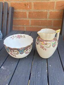 Antique Rare Aynsley Sugar Bowl And Milk Jug Circa 1891