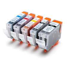 5x Ink PGI-5BK CLI-8 C/M/Y for Canon PIXMA iP3300 iP3500 MP510 MP520 MX700