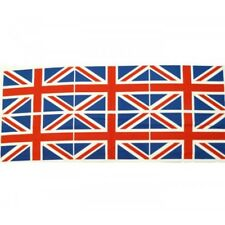 100% Cotton Fabric Flag Great Britain Union Jack 6 Flags Per Panel UK