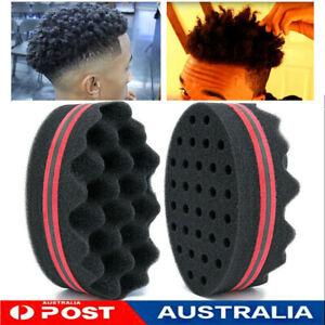Wave Barber Hair Brush Sponge for Dreads Afro Locs Twist Curl Coil Magic Tool AU