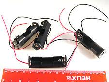 1x soporte de batería AA (UM-3) (plana) con contactos 150 mm ROJO/NEGRO 4 Pcs OM0523H