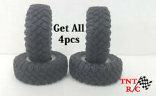 All 4pcs 1/24th scale r/c rock crawler MT tires & Wheels With Free Shipping! 7mm