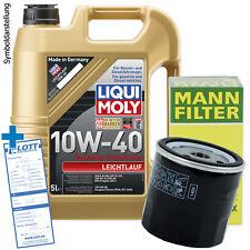 5L Liqui Moly Leichtlauf 10W-40 Motoröl + Filter + Schraube für Peugeot / Volvo