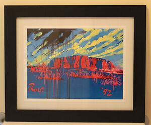 Rolf Harris 'Uluru' print. Mint!