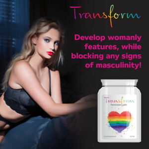 TRANSFORM HORMONE FEMINIZER PILLS – TRANSSEXUAL ESTROGEN GROW BOOBS SEXY LGBT