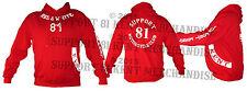 SUPPORT 81 KENT HELLS ANGELS ENGLAND Hoody Hoodie Hooded Sweat BIG RED MACHINE