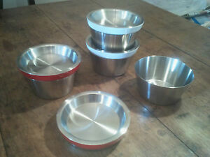 Define Stainless Steel Stackable Pots & Lids with Coloured Trim