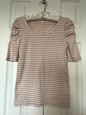 Baby Pink STRIPED Tunic Tee PRINCESS BUBBLE ½ Sleeves FOREVER 21 S/P T-SHIRT Top