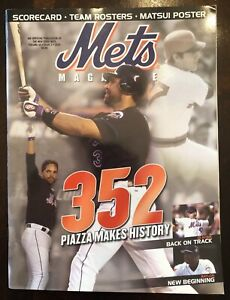 Rare 2004 Mets Magazine -Vol. 43 Issue 2- 352 Piazza Makes History Matsui Poster