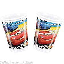 DISNEY CARS Disposable Cup Tableware Supplies 200ml Plastic Boys Party CUPS x8