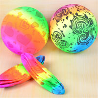 Rainbow Inflatable Ball Balloon Kids Swimming Pool Outdoor Beach Game Toy v vo