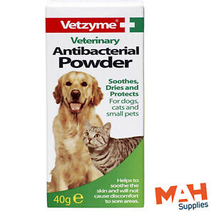 Vetzyme Antibacterial Powder Soothes Protects Skin For Cats Dogs & Small Pets