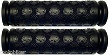 BICYCLE BMX BIKE CRUISER MOUNTAIN BIKE MTB BLACK SKULL HANDLEBAR BAR HAND GRIPS